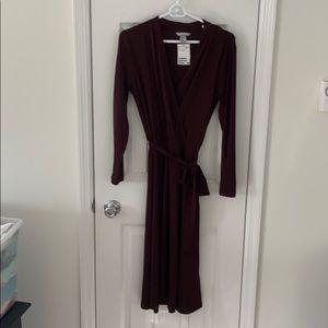 NWT H&M Brown Midi Dress
